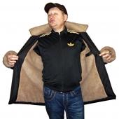 Мужская куртка с капюшоном с подкладкой из верблюжьей шерсти
