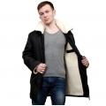 Мужская куртка (чёрная плащёвка) с воротником