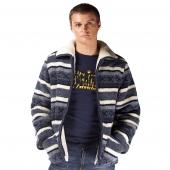 Мужская куртка (скандинавка синяя) с воротником