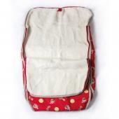 Детский конверт-трансформер (меринос / плащевка детская красная)