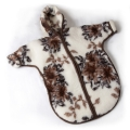 Детский конверт с рукавами (меринос цветы)