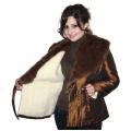 Женская плащевая куртка с воротником