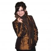 Женская приталенная куртка воротник стойка