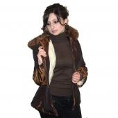 Женская приталенная куртка с капюшоном