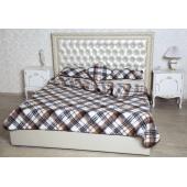 Спальный комплект с двухслойным одеялом меринос клетка