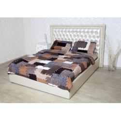 Двухслойное одеяло (меринос белый / заплатка)