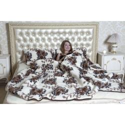 Легкое одеяло (меринос цветы)
