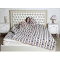 Двухслойное одеяло (меринос белый / фольклор)