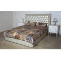 Двухслойное одеяло (белый меринос / поликоттон Розы, Флоренция, Леопард)