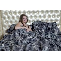 Одеяло (меринос чёрный леопард)